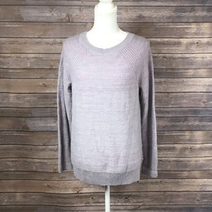 Lou&Grey Dusty Purple Stripe Detail Sweater